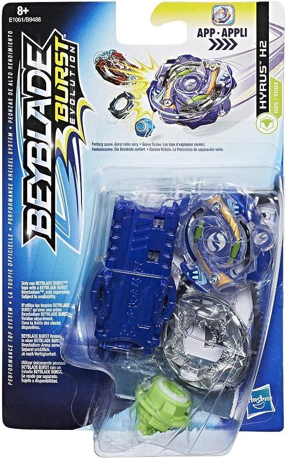 Beyblade- Peonza y Lanzador Hyrus H2, Multicolor, única (Hasbro ...