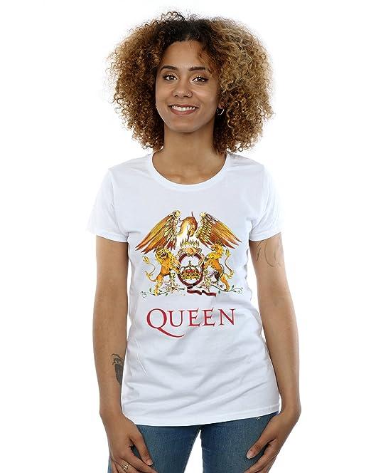 Queen mujer Crest Logo Camiseta  Amazon.es  Ropa y accesorios 93899c525a5