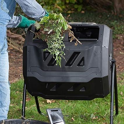 ZDYLM-Y Tumbling Composter con 2 Vasos giratorios Dobles ...