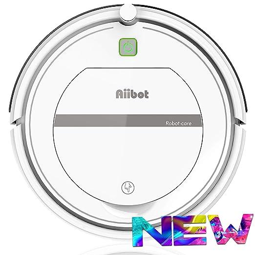 AIIBOT Aspirador Robot con Sistema de Limpieza de 3- Etapas, Sensor Inteligente de Detención de Caídas, Filtro HEPA, para Apartamentos/Casa ...