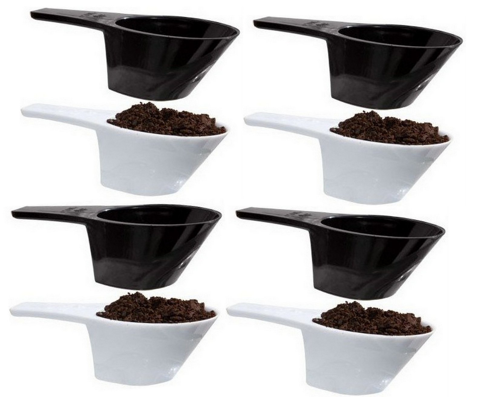 8p ALAZCO pc COFFEE MEASURING SCOOP 1/8 CUP - Make The Perfect Pot Of Coffee Right At Home - Coffee Sugar & Spice! - Kitchen Baking Measure Spice Herbs Sugar Flour Cocoa Powder Salt
