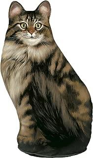 product image for Fiddler's Elbow Long-Haired Tabby Cat Door Stop, Decorative Door Stopper, Interior, Cat Doorstop