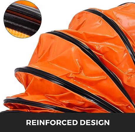 Mophorn Tuyaux en PVC 10pi 16po Tuyau flexible PVC R/ésistant /à lusure Cordes ajustables pour ventilateur dextraction
