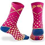 Lacrosse Athletic Half Cushioned Crew Socks   Sundae and Malibu Neon Designs
