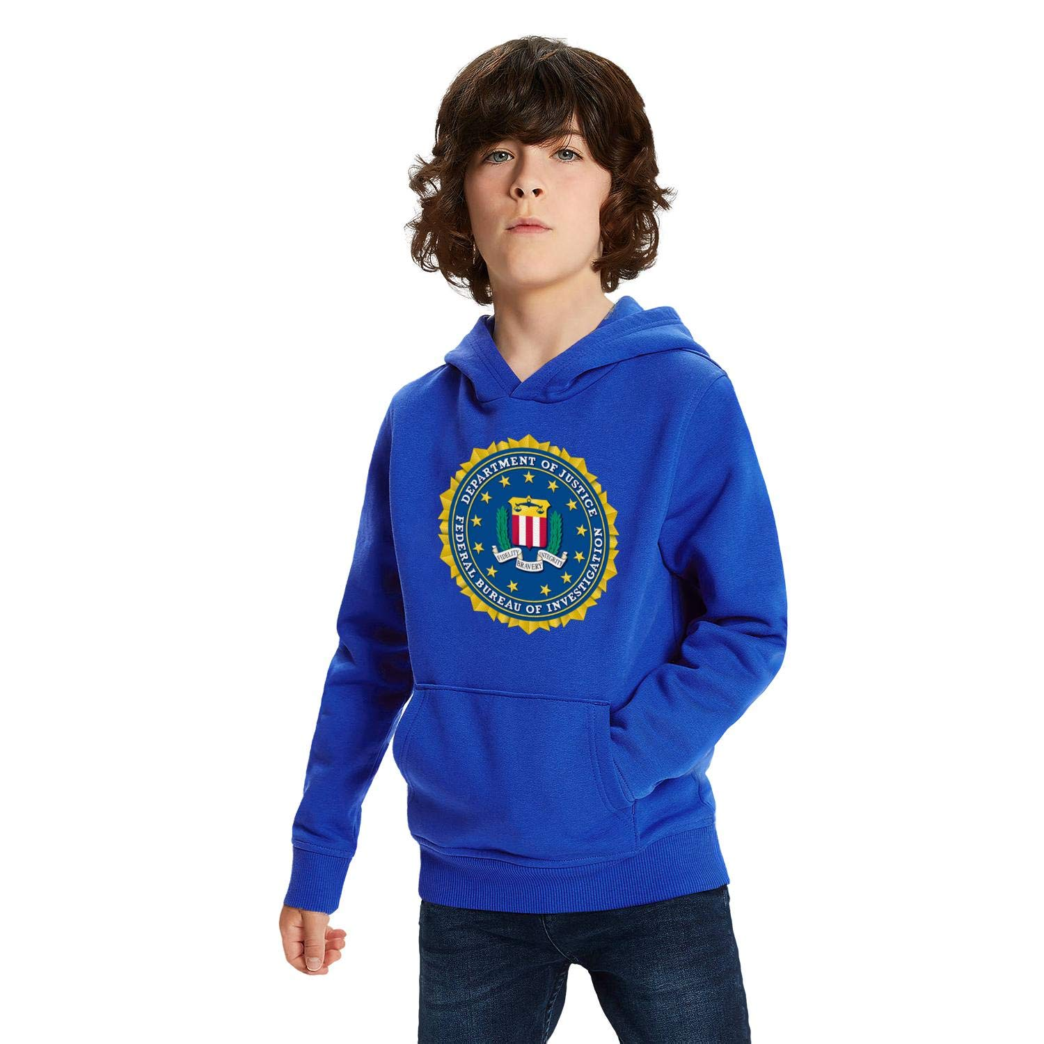 Kids Pullover Hoodies Casual Hooded Sweatshirts Tops with Pocket for Age5-13 Boys Girls