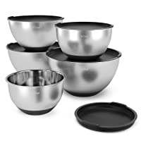 Deals on X-Chef Stainless Steel Mixing Bowls Set w/5 Lids