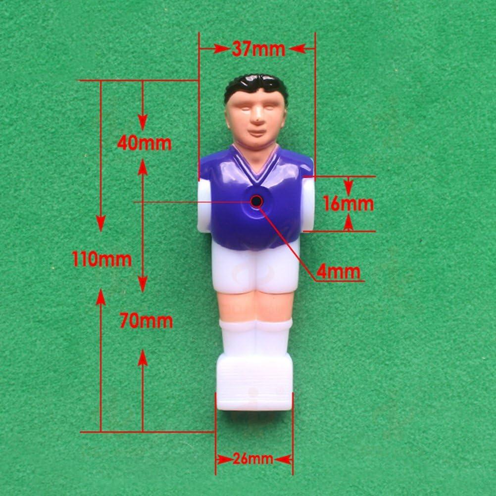 YeahiBaby Jugador de Futbolín de Plástico para 1.4M Futbolín de Mesa 4 Piezas (2pcs Amarillo y 2pcs Morado): Amazon.es: Juguetes y juegos