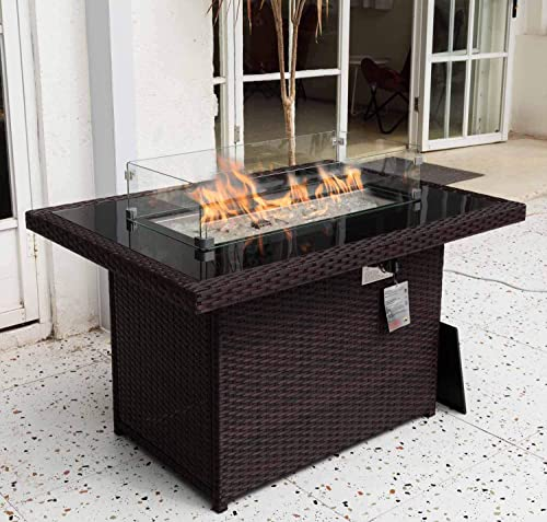 Propane fire Pit 43″ fire Pit Table 55,000 BTU Auto-Ignition fire Pit Table Review