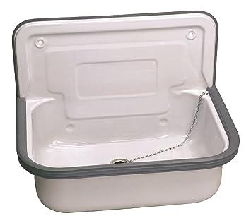 Becken Waschküche stahl ausgussbecken glasiert 50 cm waschbecken keller