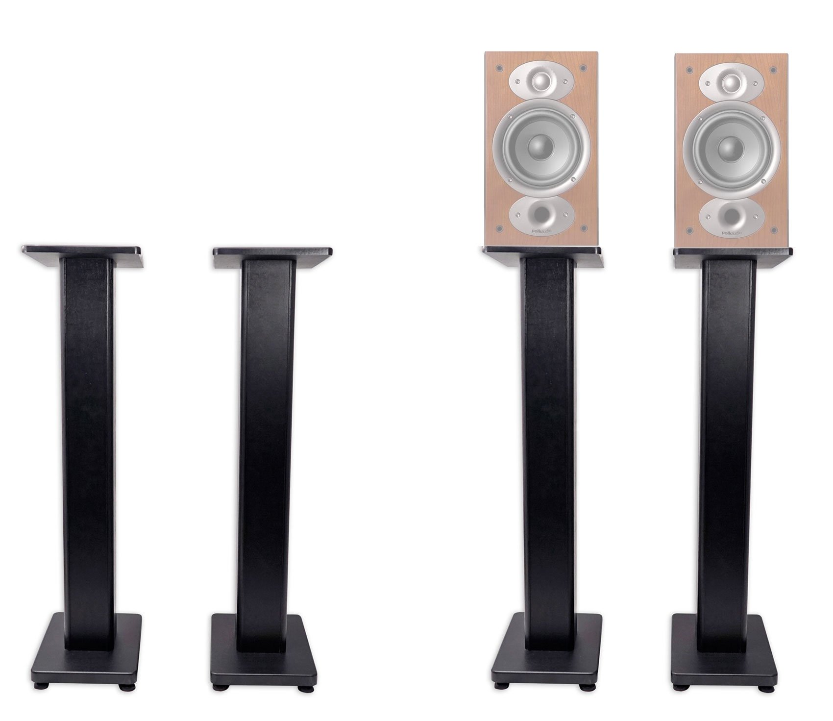 Pair 36'' Bookshelf Speaker Stands For Polk Audio RTI A3 Bookshelf Speakers