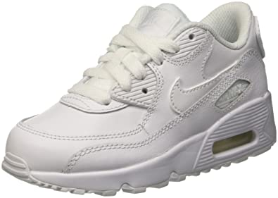 hot sale online ca086 f8d12 Nike Boys Air Max 90 Leather (ps) Running Shoes, White 100, 10