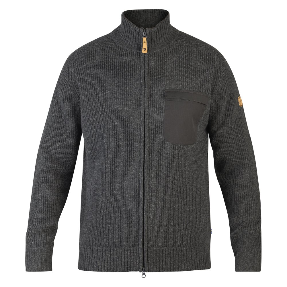 Fjallraven Men's Sormland Zip Cardigan, Dark Grey, S