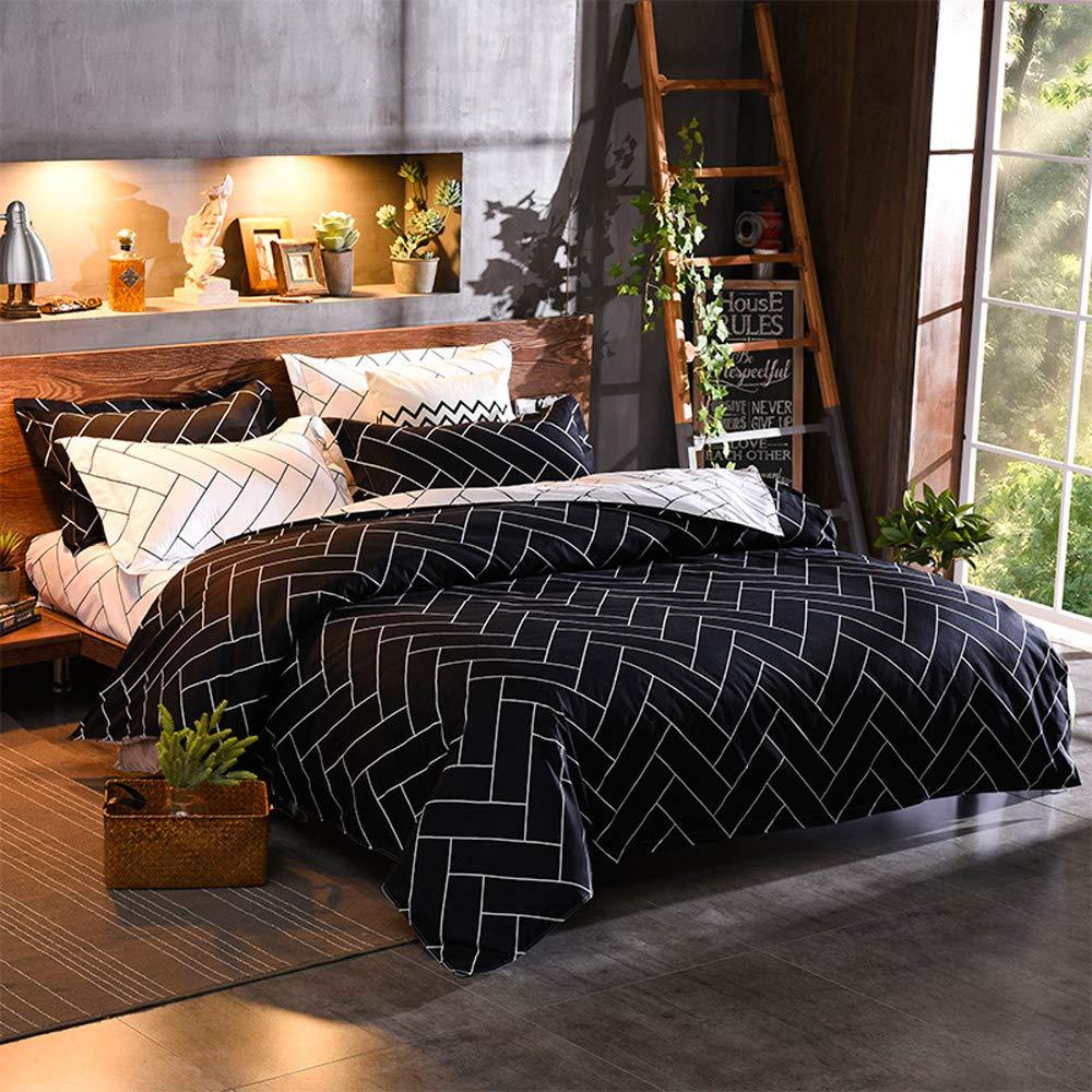 Black Queen Simple Cactus Duvet Cover Set Modern Garden Plant Design Bedding Sets for Girl Woman (Full, bluee)