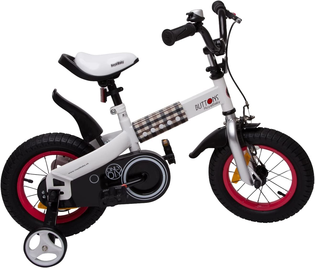 Bicicleta infantil 12 pulgadas Buttons ruedines contrapedal ...
