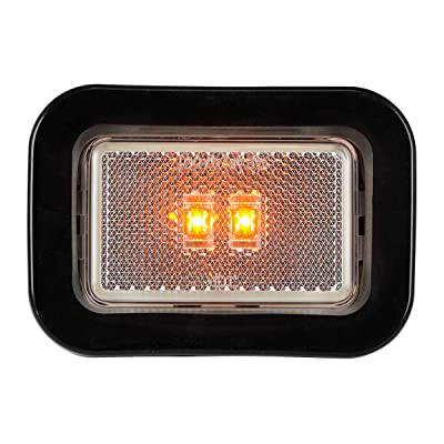 Grand General 78595 LED Light (Small Rectangle Amber/Clear with Grommet): Automotive