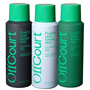 OffCourt Deodorant Body Spray for Men - Aluminum Free – Powerful Prebiotics to Fight Body Odor – Formulated Scents to Last All Day – Men's Deodorant Spray Variety Pack (3-pack) - 3.4 oz