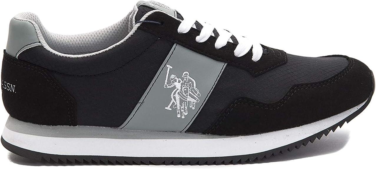 U.S. Polo Sneakers NATTS1 Nylon, Hombre Negro Size: 44 EU ...