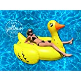 Giant Yellow Duck Ride On Pool Float- 80in of Summer fun! USA seller