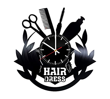 Amazon Com Hairdresser Tools Vinyl Clock Beauty Salon Wall Art