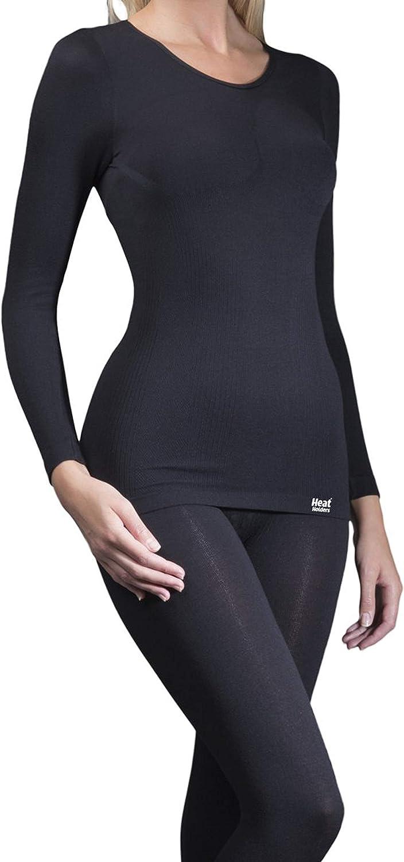 Womens Winter Warm Thermal Underwear Long Sleeve Shirt//Top HEAT HOLDERS