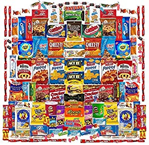 Deluxe 130 Count Snack Box by Skyline Snack Company | Food, Variety, Fun for the Whole Family | Office Chips, Cookies, Crackers, Nuts, and Sweets for Every Taste | Military or College Care Package