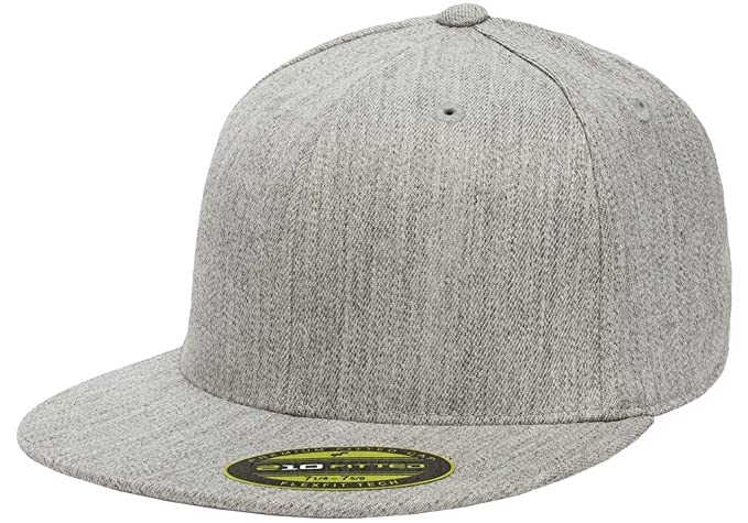 71390925 Flexfit Premium 210 Fitted Flat Brim Baseball Hat
