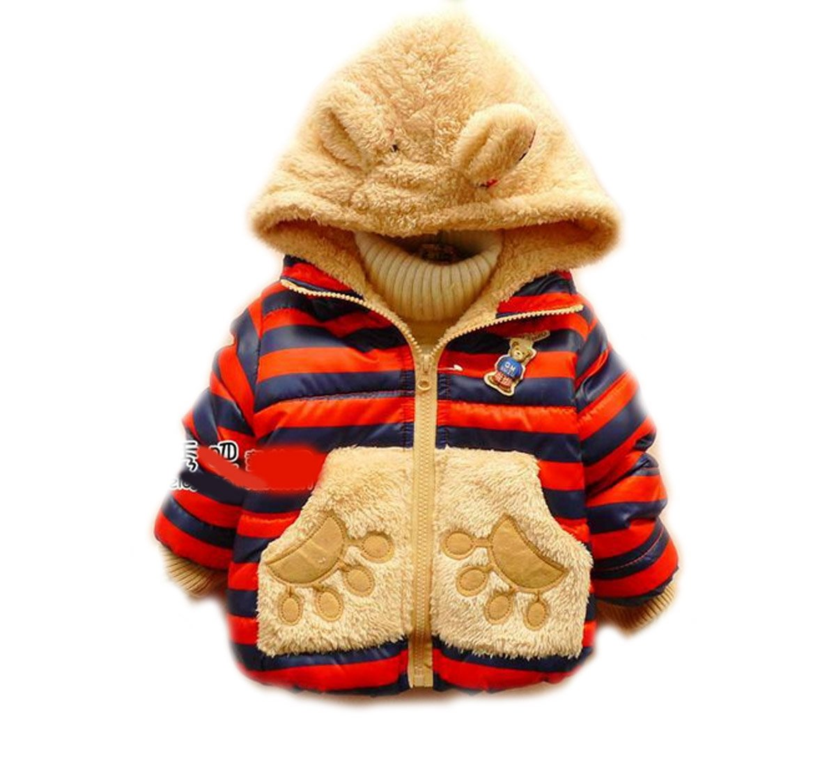 SOPO Baby Girls Cute Rabbit Cartoon Garment Winter Hoodie Jacket Outwear 2-4Y