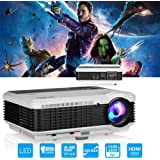 "4500 Lumen HD Video Projector WXGA - 1080P Support Dual HDMI & USB Multimedia LCD Image System Home Theatre Projectors 150"" Widescreen for Computer TV DVD Player Laptop Outdoor Basement Movie Holiday Party"