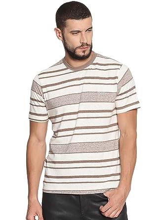 VUDU Men's Casual Brown Color Short Sleeves T-Shirts: Amazon