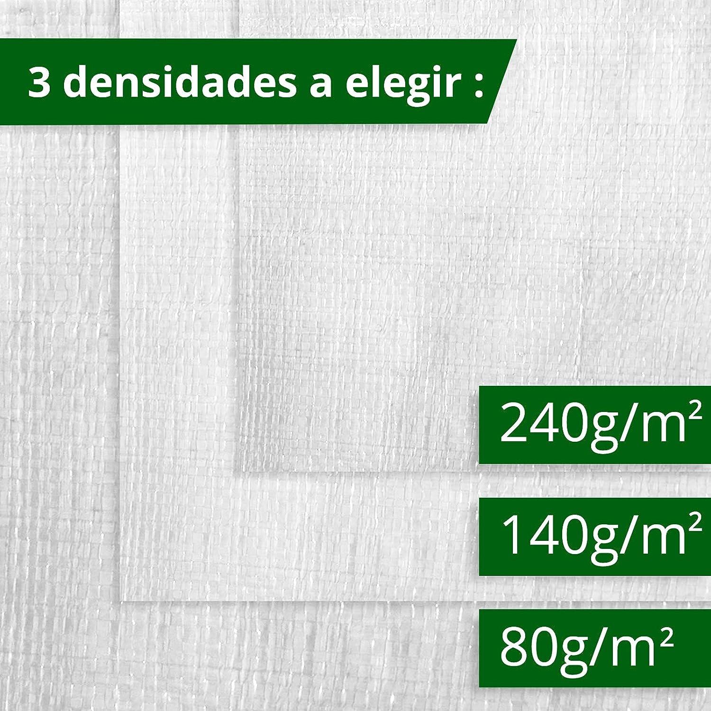 casa pura Lona impermeable 4x6 Blanca Muchos colores y tama/ños Con ojales 240g//m/² Extremadamente resistente Toldos impermeables exterior