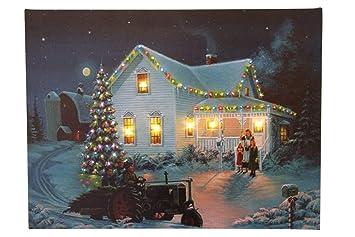 Weihnachtsbilder New York.Festliches Weihnachtsbild Mit Traktor Und Weihnachtsbaum Mit Led