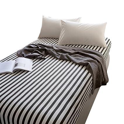 Amazoncom Otob 100 Cotton Striped Sheets Black White Children