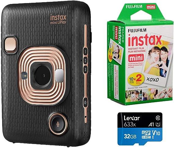 Fujifilm Instax Mini Liplay Cámara híbrida instantánea (Elegant ...
