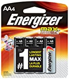 Amazon Price History for:Energizer AA Batteries, Max Alkaline (4 Count)
