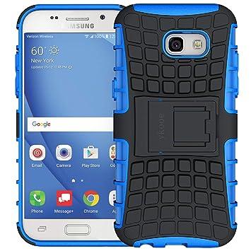 ykooe Funda Galaxy A5 2017, Silicona Funda Samsung Galaxy A5 (2017) Doble Capa Híbrida Carcasa Case Shock-Absorción para Samsung A5 2017 - Azul