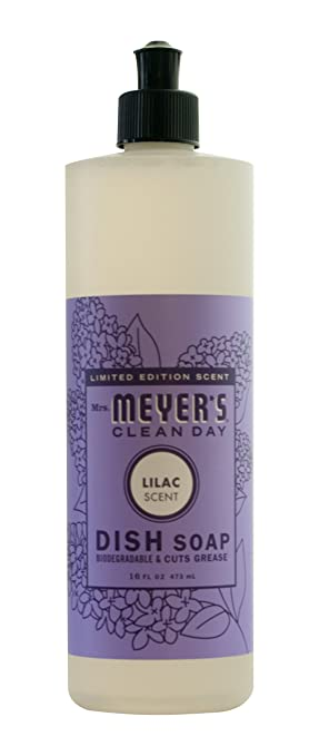 mrs meyers clean day dish soap limited edition lilac scent 16 oz
