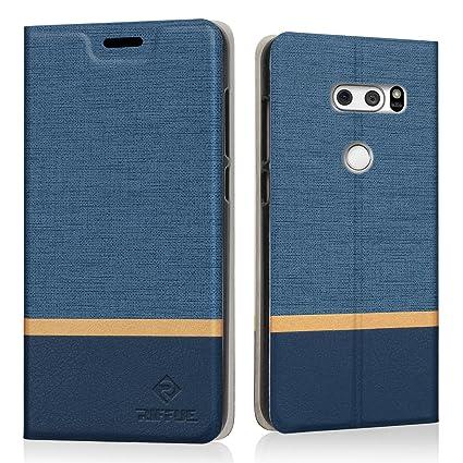 Funda LG V30, Riffue® LG V30 Carcasa Libro con Tapa de Cuero ...