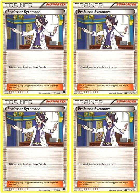 Uncommon Pokemon Card Professor Sycamore 107//122 2016 - NM BREAKpoint