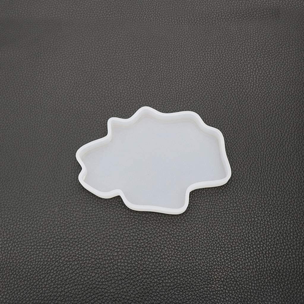 huyiko Irr/égulier Coaster Cup Mat Mould Manuel Miroir UV R/ésine Table D/écoration DIY Cristal /Époxy Moules