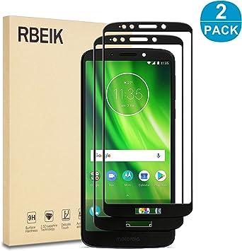 RBEIK Moto G6 - Protector de pantalla de cristal para Motorola ...