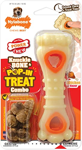 Nylabone Power Chew Knuckle Bone Pop-in Treat Toy Combo