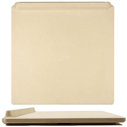 Innovadora Piedra de Pizza Rectangular, 35 x 40 cm, para Cocinar y Hornear en