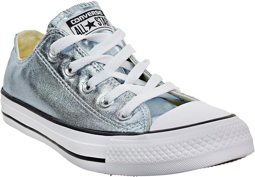 eaf527db1f990 Unisex Chuck Taylor All Star Ox Low Top Classic Metallic Blue Sneakers -  11.5 D(M) US