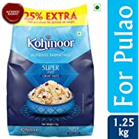 Kohinoor Super Value Basmati Rice, 1kg (with Free 25% Extra)