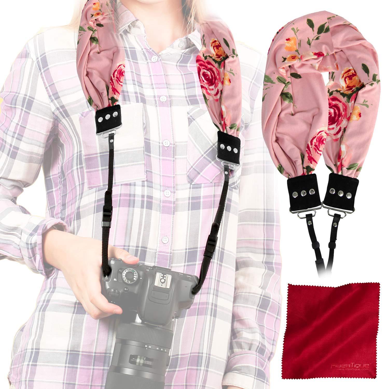 キャプチャクチュールスカーフ カメラストラップ 隠しポケット(エリー)と繊維布付き B07MT5Q7GV