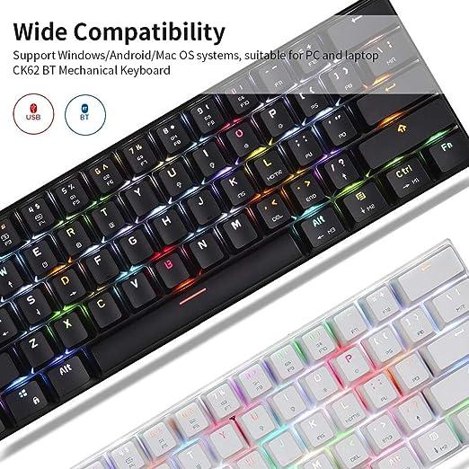 Motospeed Ck62 61 Tasten Rgb Mechanische Tastatur Usb Elektronik