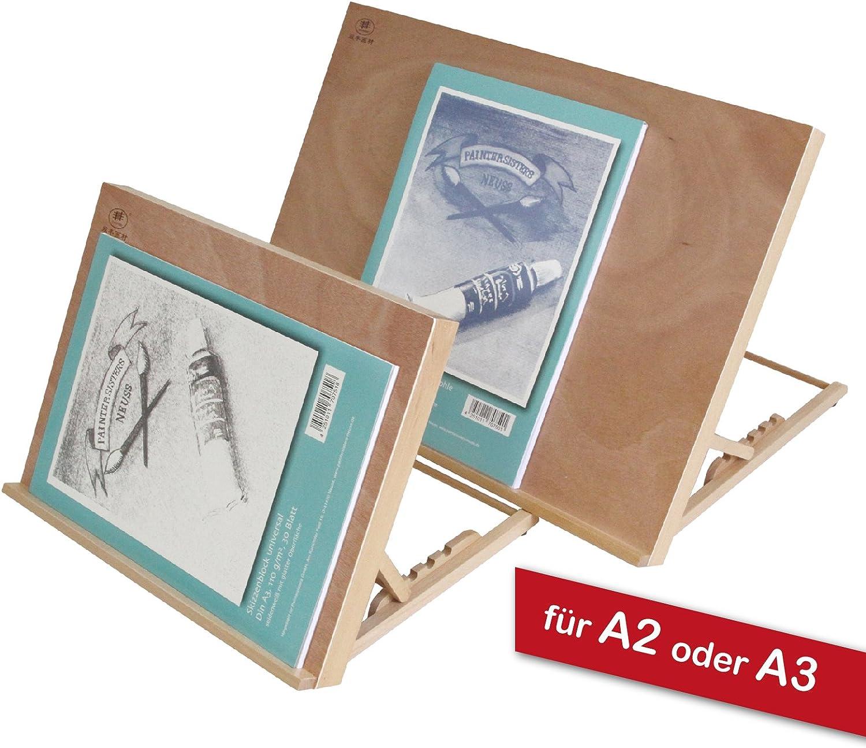 Paintersisters-Neuss Tischstaffelei Zeichenbrett Buchenholz Workstation Gr/ö/ße A3