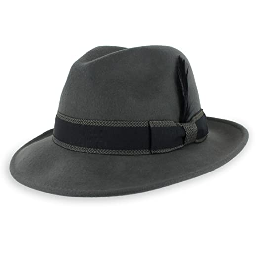Belfry Crushable Dress Fedora Men s Vintage Style Hat 100% Pure Wool in  Black Blue Grey 9b8aef478a39