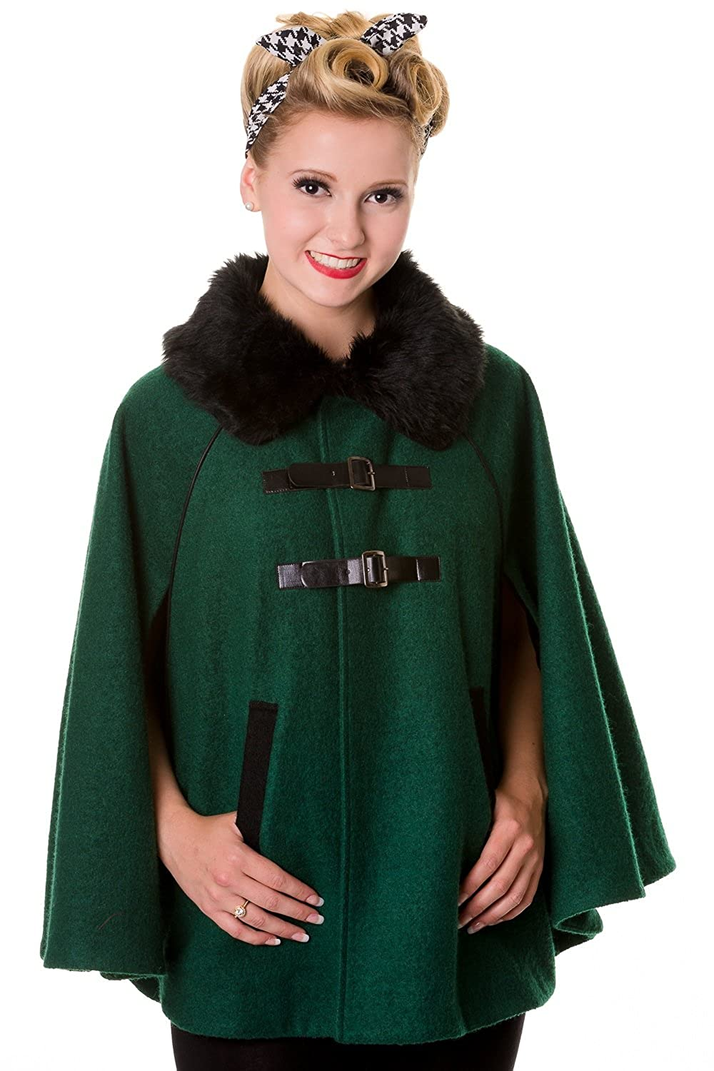 Banned Vintage Cape Coat - Green or Red