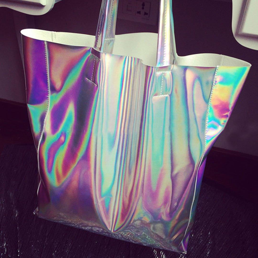 44d885fd65 Amazon.com  Ofila Holographic PU Tote Handbag Large Hologram Shopper Laser  Shoulder Bag for Women